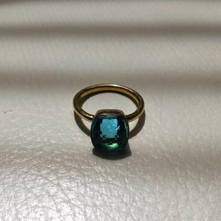 大粒 天然石 ブルートパーズ (リング(指輪))