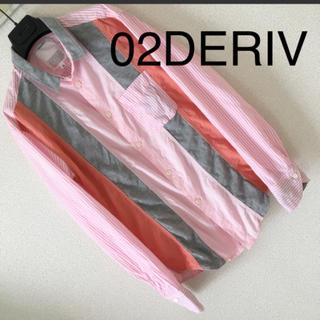 ツーディライブ(02DERIV.)の◆レア◆02DERIV ツーディライブ◆シャツ ストライプ パネル 切替 2 M(シャツ)