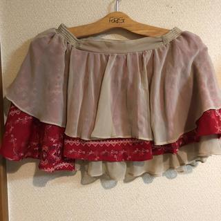 アイズビットガーディアン(ISBIT GUARDIAN)のフリル重ね着風スカート(ミニスカート)