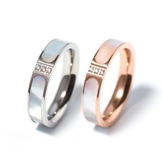 【高級品】選べる2色、キラキラ付き、天然白蝶貝使用(リング(指輪))