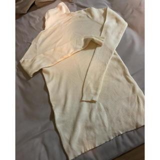 ムジルシリョウヒン(MUJI (無印良品))の無印良品 タートルネック 白ニット(ニット/セーター)