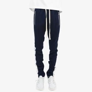 フィアオブゴッド(FEAR OF GOD)のmnml track pants navy / white S fog型 (ジャージ)