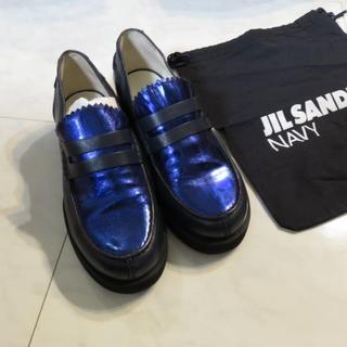 ジルサンダー(Jil Sander)のJIL SANDER NAVY ジルサンダー 革 ローファー 靴(ローファー/革靴)