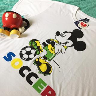 ディズニー(Disney)のSALE!新品★ミッキー Tシャツ LL サッカー フットサル スポーツ(Tシャツ/カットソー(半袖/袖なし))