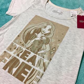 ディズニー(Disney)のSALE!新品★ラプンツェル Tシャツ M レディース グレー(Tシャツ(半袖/袖なし))