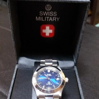 スイスミリタリー(SWISS MILITARY)の腕時計/SWISS MILITARY/シルバー×ブルー/スーツに映えるデザイン♪(腕時計(アナログ))