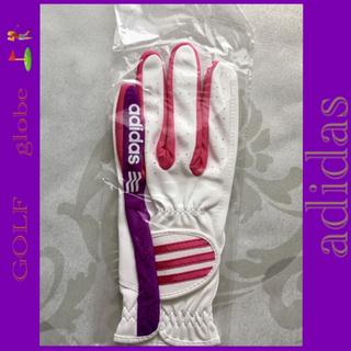 アディダス(adidas)の【新品未使用】ゴルフ、グローブ、左手、アディダス19センチ、手袋、ピンクパープル(手袋)