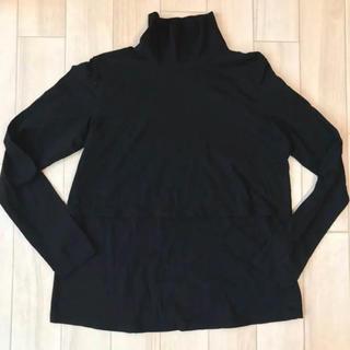 ムジルシリョウヒン(MUJI (無印良品))の新品未使用 無印良品 授乳服 タートルネック ブラック(マタニティトップス)