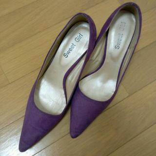 【美品】紫色パンプス(ハイヒール/パンプス)
