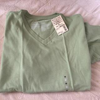 ムジルシリョウヒン(MUJI (無印良品))の無印良品 新品 Vネック 半袖Tシャツ メンズ(Tシャツ/カットソー(半袖/袖なし))