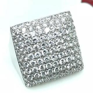 1427 ダイヤモンド2.45ct WGK18 ホワイトゴールド リング 14号(リング(指輪))