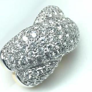 1428 ダイヤモンド 3.25ct WGK18 YGK18 リング 14号(リング(指輪))