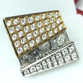 1429 ダイヤモンド 7.281ct YGK18 Pt900 リング 14号(リング(指輪))