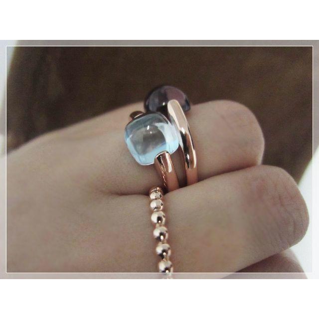 丁寧な作り ぽってり ブルートパーズ 天然石 リング 9 - 14号 レディースのアクセサリー(リング(指輪))の商品写真
