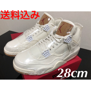 ナイキ(NIKE)のLEVI'S × NIKE AIR JORDAN4 white 新品未使28cm(スニーカー)