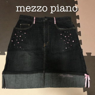メゾピアノ(mezzo piano)のメゾピアノ*デニムスカート(スカート)