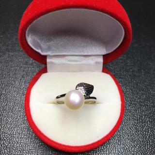 送料無料!新品 pt プラチナ 本物 真珠 リング 指輪 18号 (リング(指輪))