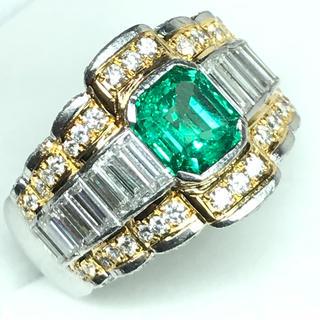 1431 エメラルド1.80ct ダイヤモンド2.70ct プラチナリング(リング(指輪))