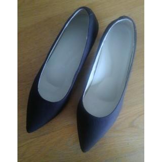 ムジルシリョウヒン(MUJI (無印良品))の無印 撥水ポインテッドトゥパンプス(ローファー/革靴)