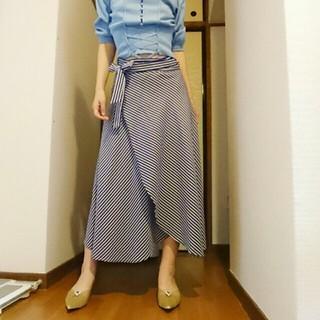 フレイアイディー(FRAY I.D)の最終値下げマリンスカート Aラインフレア巻きスカートFサイズ(ロングスカート)