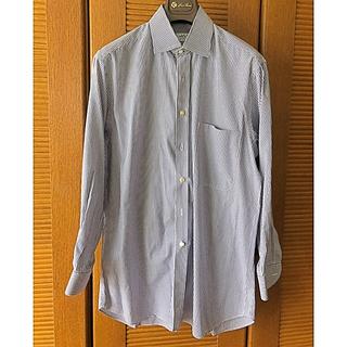 キトン(KITON)のabla アブラ 紺ストライプシャツ クラシコイタリア(シャツ)