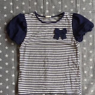 ジーユー(GU)のGU、女の子ボーダーTシャツ、140(Tシャツ/カットソー)