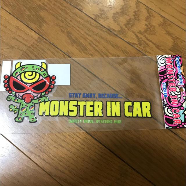 HYSTERIC MINI(ヒステリックミニ)のヒスミニ 車 ステッカー 自動車/バイクの自動車(車外アクセサリ)の商品写真