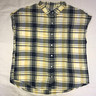 ジーユー(GU)のチェックシャツ(シャツ/ブラウス(半袖/袖なし))
