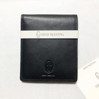 ジャンニバレンチノ(GIANNI VALENTINO)のGIANNI VALENTINO ヴァレンチノ レザー 二つ折り財布 新品同様(折り財布)