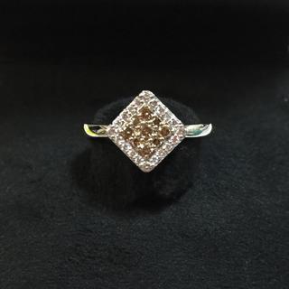 ポンテヴェキオ(PonteVecchio)のシナモン様専用 ポンテヴェキオ ブラウンダイヤモンド K18WG リング (リング(指輪))