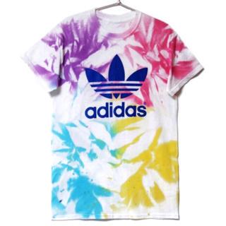 アディダス(adidas)のadidas アディダス タイダイ 染色 フェス ロゴドン Tシャツ(Tシャツ/カットソー(半袖/袖なし))