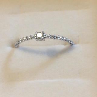 ジュエリーツツミ(JEWELRY TSUTSUMI)のダイヤモンドリング  16号  10KWG  (リング(指輪))