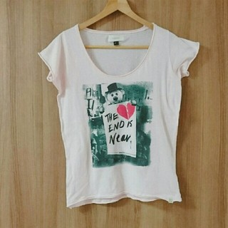 インサイト(INSIGHT)のフリーズマート INSIGHT インサイト  Tシャツ くすみピンク クマ (Tシャツ(半袖/袖なし))