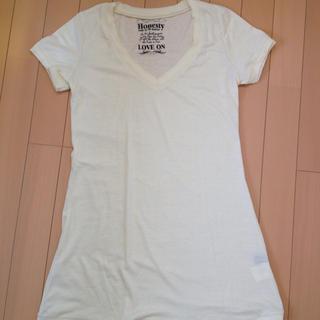 アクアネーム(AquaName)の丈長めVネックTシャツ(Tシャツ(半袖/袖なし))