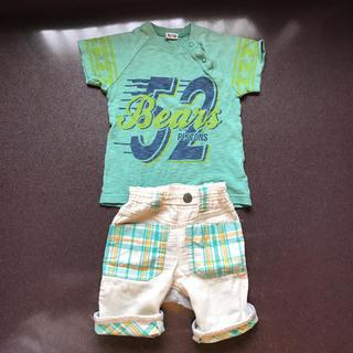 リトルベアークラブ(LITTLE BEAR CLUB)の237.  LITTLE BEAR CLUB Tシャツとパンツ 90㎝(Tシャツ/カットソー)