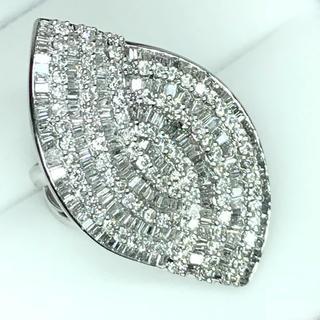 1437 ダイヤモンド5.00ct Pt900 プラチナリング 12号(リング(指輪))