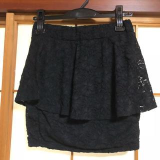 リップサービス(LIP SERVICE)のLIPSERVICE レースのペプラムスカート(ミニスカート)