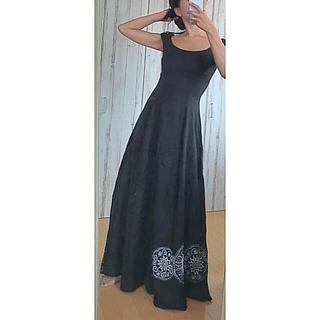 エトロ(ETRO)のETRO ロングワンピースドレス ビーズ刺繍 マキシ(ロングワンピース/マキシワンピース)