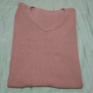 ユニクロ(UNIQLO)のMEN'S★UNIQLO★半袖★ベージュ★L(Tシャツ/カットソー(半袖/袖なし))
