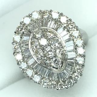 1439 ダイヤモンド3.00ct Pt900 プラチナリング 11号(リング(指輪))