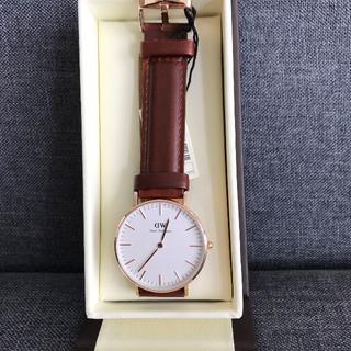 ダニエルウェリントン(Daniel Wellington)のDW 人気 40MM  ブラウン ローズゴールド(腕時計(アナログ))