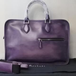 ベルルッティ(Berluti)のベルルッティ アンジュール オーダー色 ブリーフケース バッグ パープル 紫 (ビジネスバッグ)