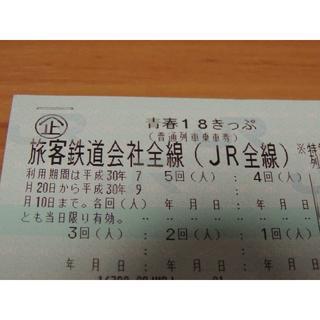 青春18 2回 8/20迄に静岡市内着で要返却 送料無料 最短8/6発送 お盆に(鉄道乗車券)