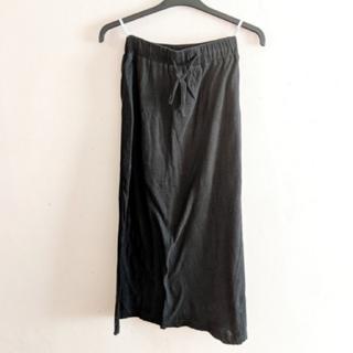 【美品】UNDER BAR RAW. アンダーバーロウ ロングスカート 黒