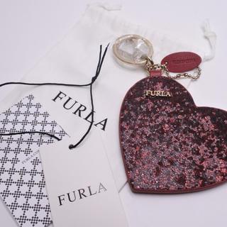 フルラ(Furla)のフルラ チャーム ハート 未使用 ピンク レディース キーホルダー 正規品(キーホルダー)