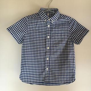 MUJI (無印良品) - 無印良品    ギンガムチェック   シャツ  130cm
