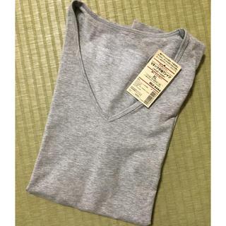 ムジルシリョウヒン(MUJI (無印良品))のタグ付き新品未使用❇︎無印 Vネック半袖Tシャツ MUJI(Tシャツ(半袖/袖なし))