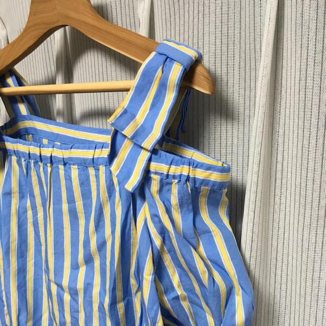 しまむら(シマムラ)の肩リボンブラウス レディースのトップス(シャツ/ブラウス(半袖/袖なし))の商品写真
