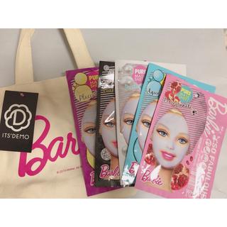 バービー(Barbie)のバービーパック5枚&ミニトートバッグセット(パック/フェイスマスク)