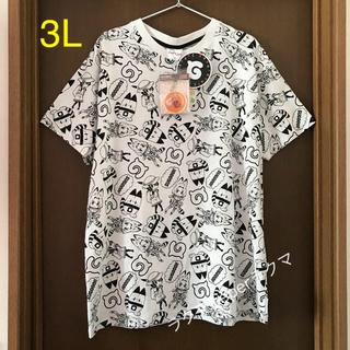 シマムラ(しまむら)の新品 けものフレンズ tシャツ 3L キーチェーン付き(Tシャツ/カットソー(半袖/袖なし))